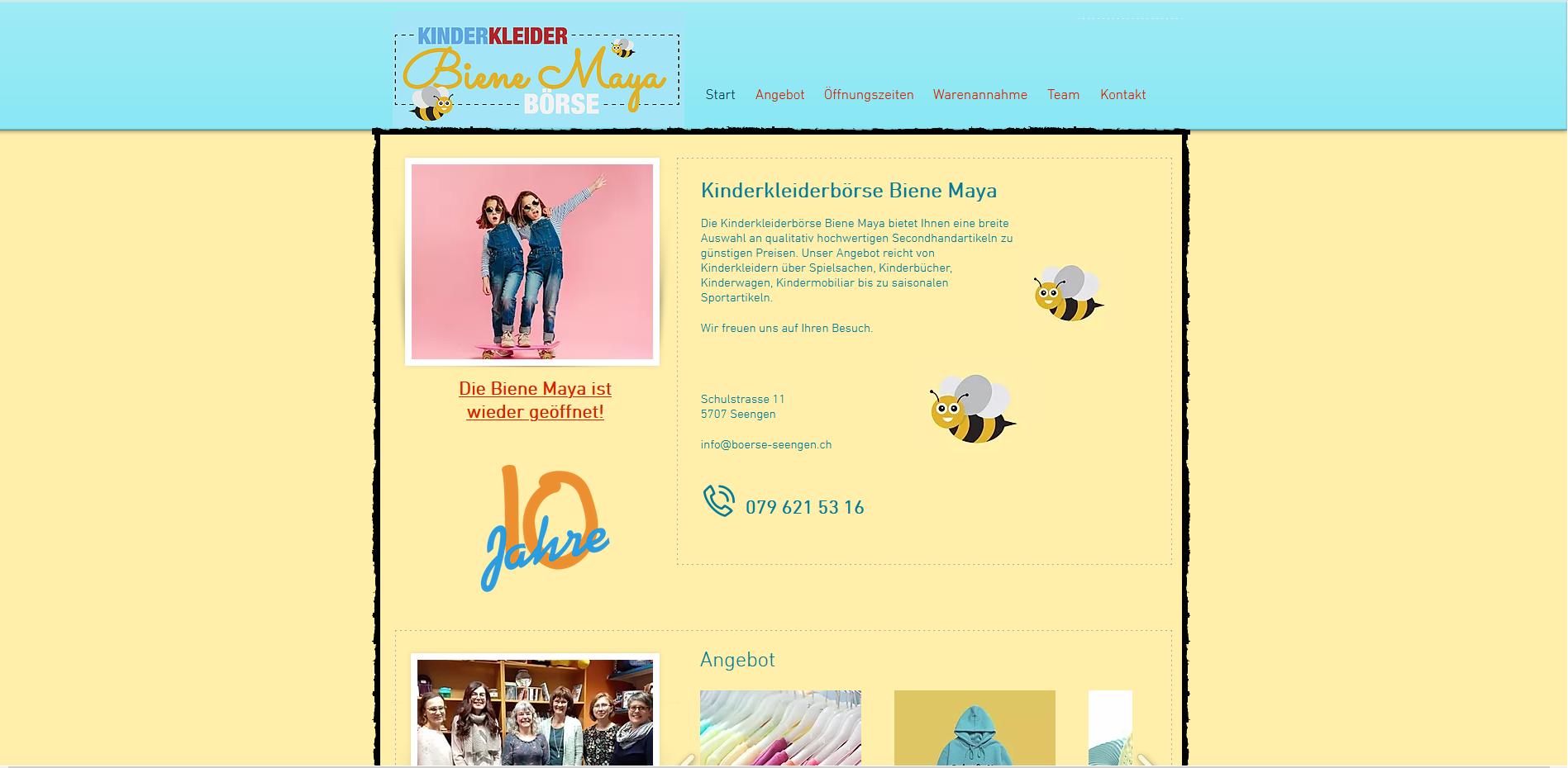 Kinderkleiderbörse Biene Maya, Seengen