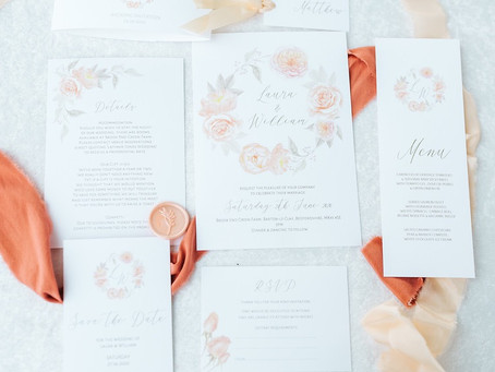 Wedding Planner Cambridgeshire Shares Peach Wedding Inspiration