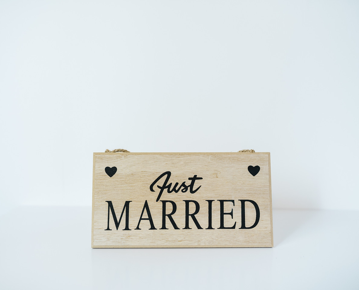 Just Married Wooden Signage