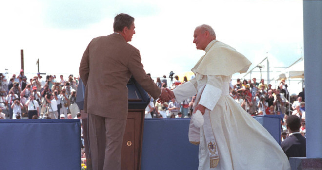An extraordinary new look at the pivotal bond between Pope John Paul II and President Ronald Reagan