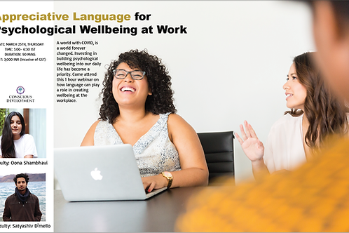 Appreciative Language for Psychological Wellbeing at Work