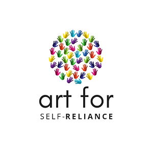 ART FOR SELF RELIANCE WITH ICON white ba