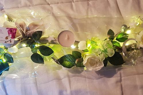 Centre de table n°12 blanc et vert éclairage leds