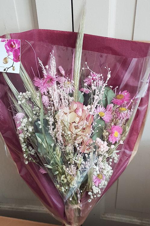 Bouquet 15 couleur beige et rose