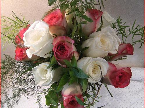 Petit bouquet rose et blanc