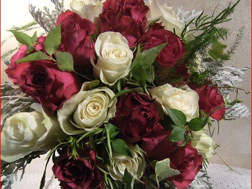 Petit bouquet rouge et blanc