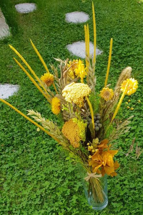 Bouquet 6 couleur jaune