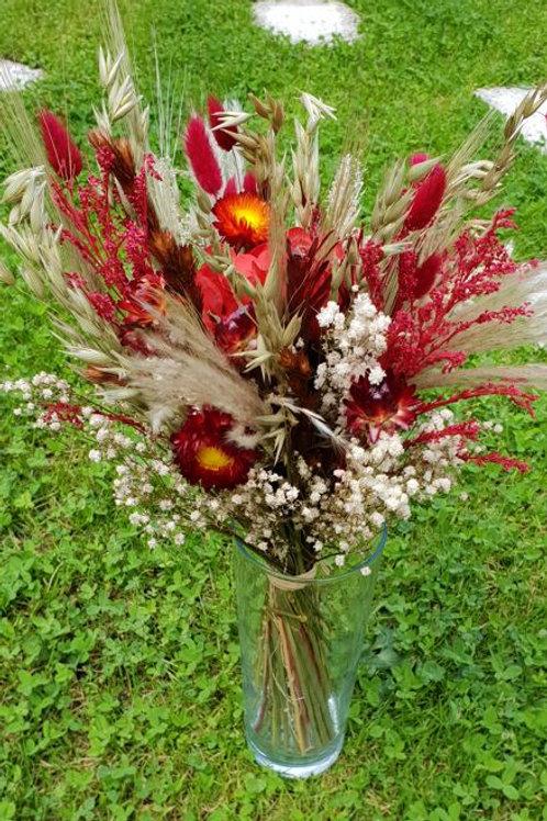 Bouquet 4 couleur bordeaux et naturel