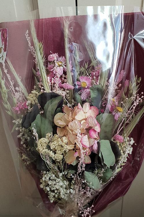 Bouquet 16 couleur blanc et rose