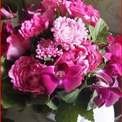 Bouquet 10 : Rose et Fuchsia
