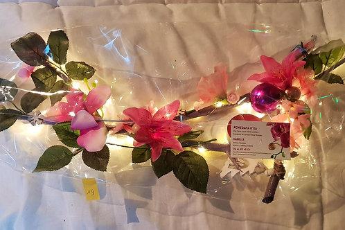 Centre de table n°19 tons rose et fuchsia éclairage leds