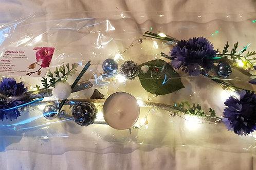 Centre de table n°7 bleu et blanc éclairage leds