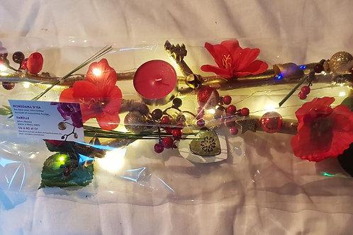 Centre de table n°9 rouge et or éclairage leds