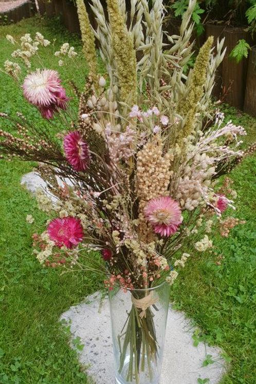 Bouquet 11 couleur rose et naturel