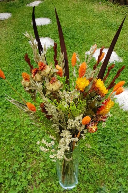 Bouquet 5 couleur jaune et orange