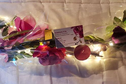 Centre de table n°18 rose et fuchsia éclairage leds