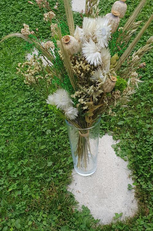 Bouquet 12 couleur naturel et vert