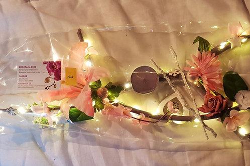 Centre de table n°11 rose éclairage leds
