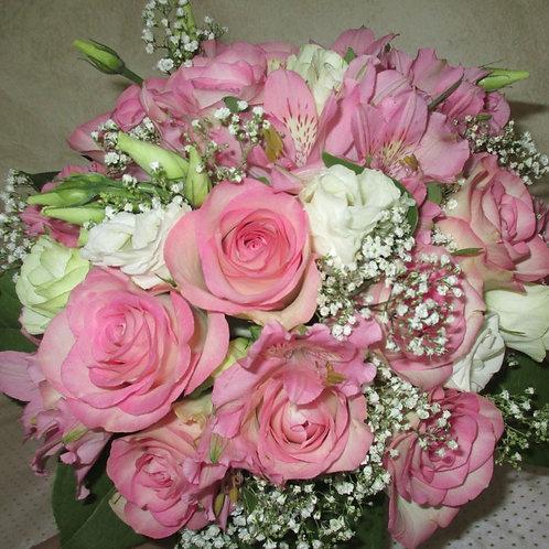 Bouquet romantique rose et blanc