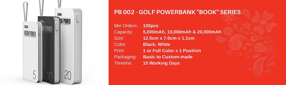 Golf Powerbank Book Series