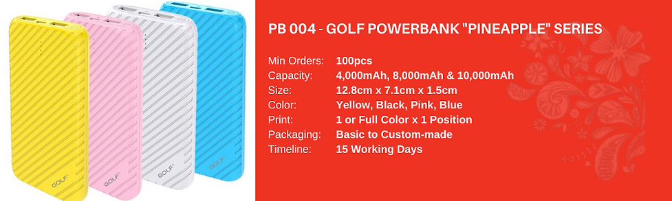 Golf Powerbank Pineappe Series