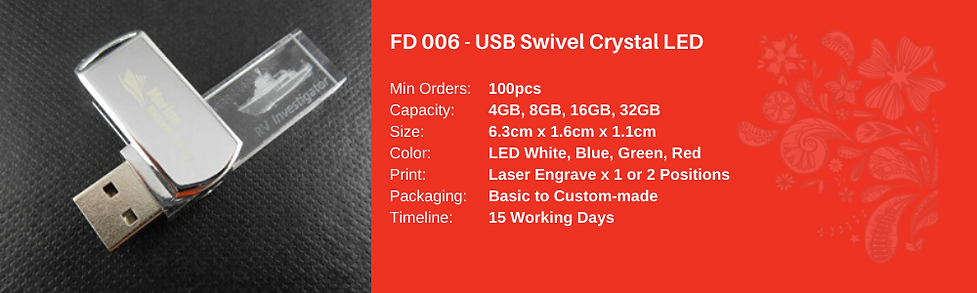 USB Swive Crystal LED