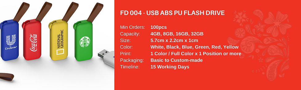 USB ABS PU Flash Drive