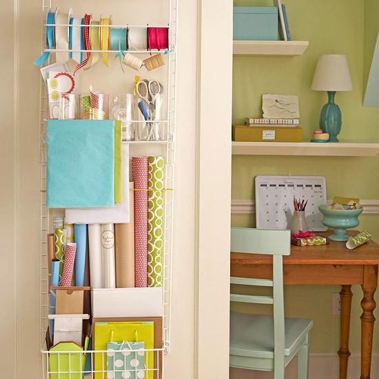gift wrap organizing ideas