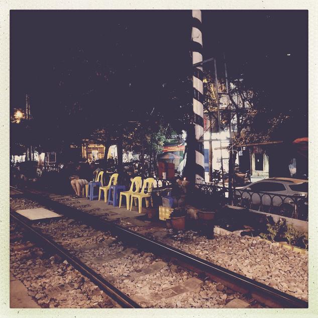 Train street...