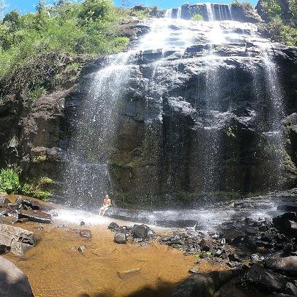 Cachoeira Três Quedas, em Bom Jesus do Madeira, na Serra do Brigadeiro