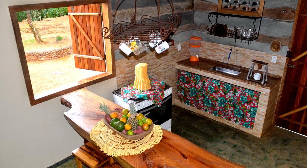 Cozinha conjugada, Rancho das Pedras, Estouros, Araponga-MG, Serra do Brigadeiro