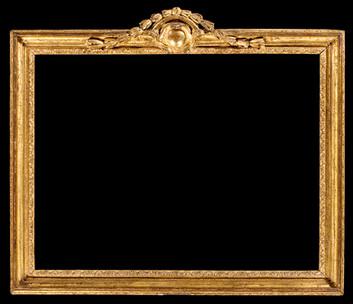 Cadre Louis XV pastel à fronton