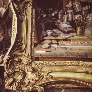 Restauration d'un cadre Louis XV