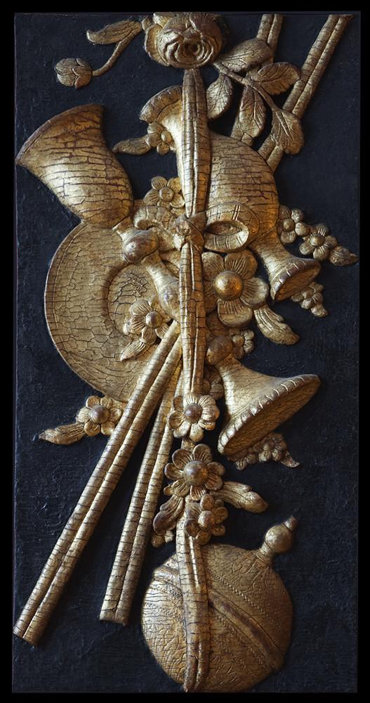 Panneau religieux du XVIIème siècle