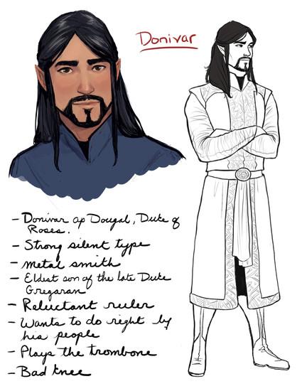 Donivar character splat