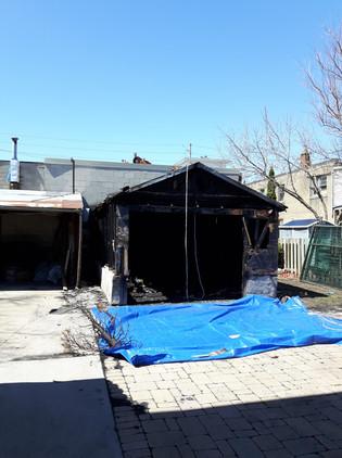 Garage Fire Tare Down