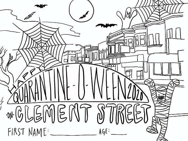 Quarantine-O-Ween Coloring page front.pn