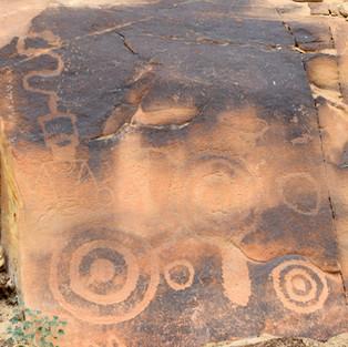 Petroglyphs on the Escalante River Canyon Walk