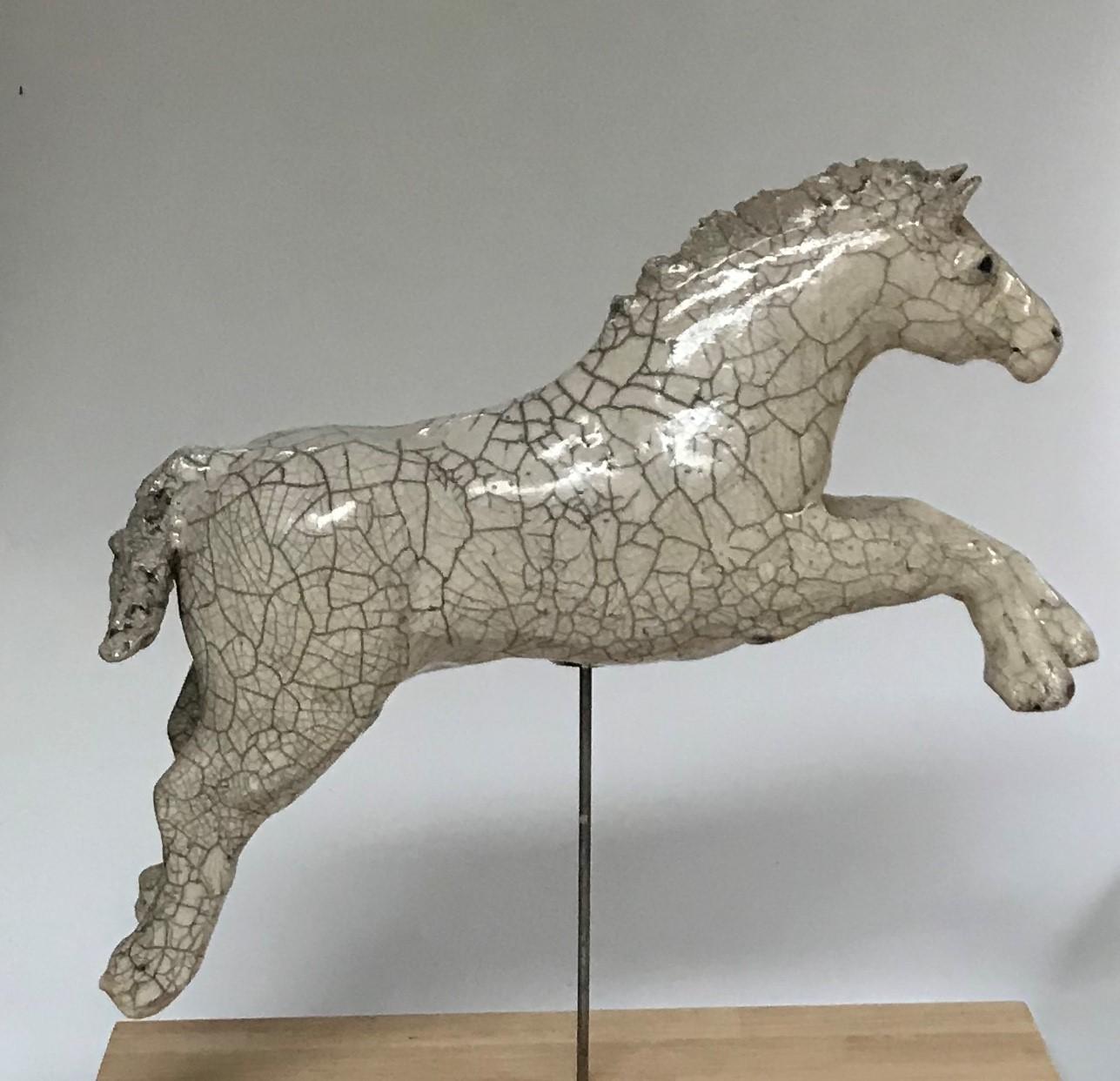 Raku horse jumping