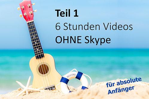GREENHORN Onlinekurs Teil 1:  inkl. 6xVideos (je 1Std.) ohne Skype