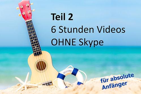 GREENHORN Onlinekurs Teil 2:  inkl. 6xVideos (je 1Std.) ohne Skype