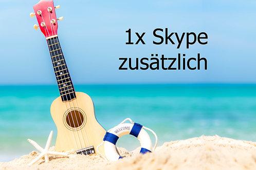 1x Skype/Zoom Session zusätzlich (Dauer: 20 Min)