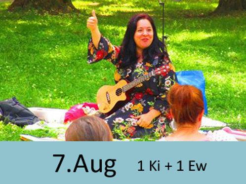 Eltern-Kind-Singen im Park 7.August 9:30 Uhr  (1 Erwachsener +1 Kind)