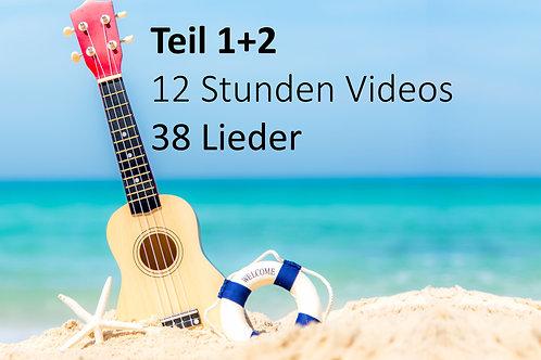 Greenhorn Onlinekurs Teil 1+2  inkl. 12 Std. Video = 38 Lieder