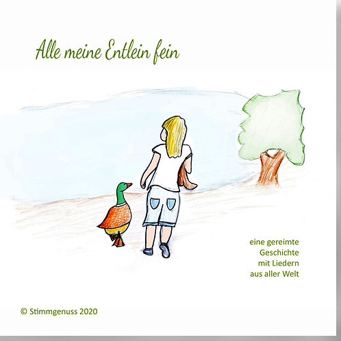 Alle meine Entlein fein, Hörbuch mit Liedern PLUS Video - DOWNLOAD