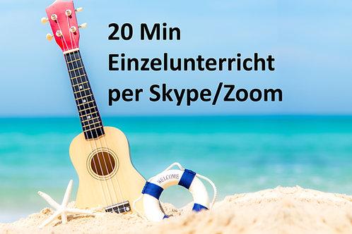 20 Min Einzelunterricht per Skype/Zoom