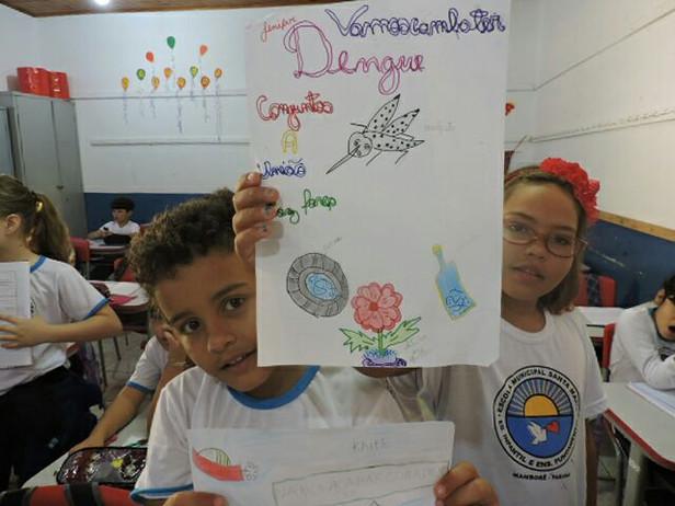 Projeto Todos contra a Dengue na Escola Santa Maria