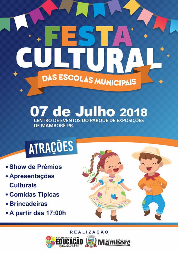 Vem aí a Festa Cultural das Escolas Municipais 2018