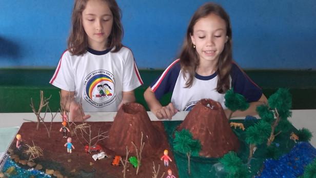 """Prof. Neide Goets, com os alunos do 4º ano da escola Elizabete,desenvolvem o projeto """"O Meio Am"""