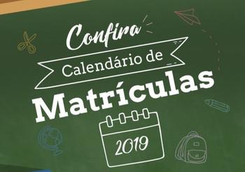 CALENDÁRIO REMATRÍCULAS 2019